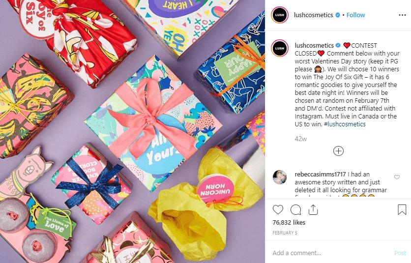 Va;entine's Day Instagram campaign