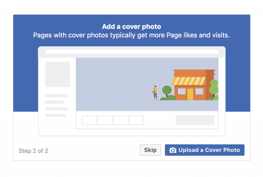 Adding a cover photo - Facebook Business Page