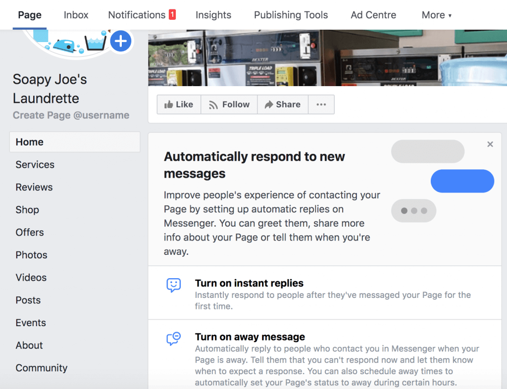 Automatically respond do messages - Facebook