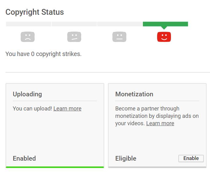 Enable monetization on YouTube
