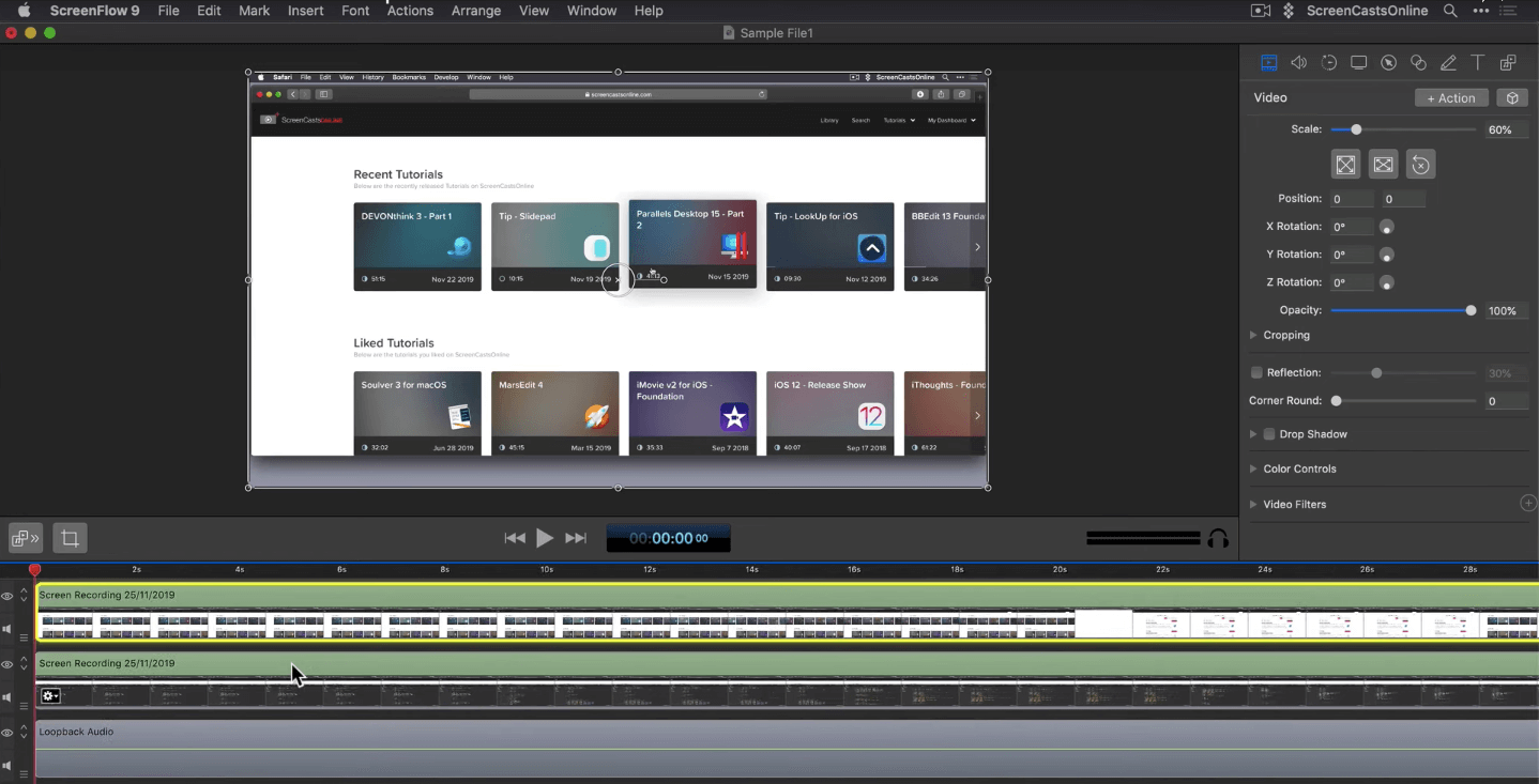 ScreenFlow Youtube content creation tool