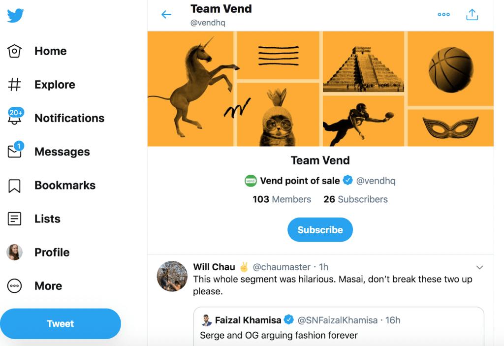 Team Twitter list