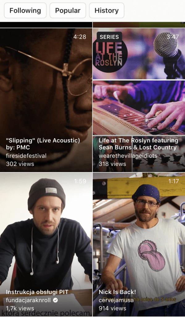 IGTV in Instagram Explore tab