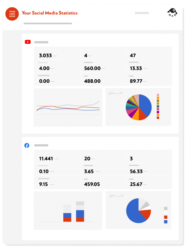 Data dashboards for social media influencers