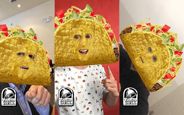 Taco Bell Snapchat AR filter