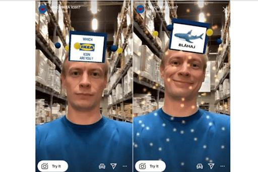 Ikea's Instagram AR filter campaign