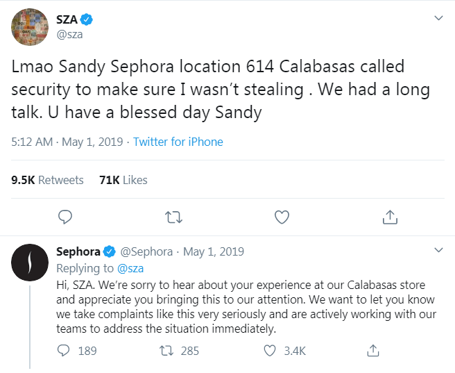 social media crisis management SZA and Sephora NapoleonCat