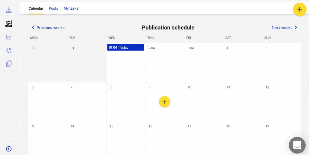 Creating a post in NapoleonCat's Instagram Scheduler