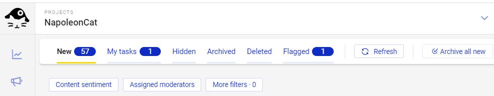 Flagging interactions in NapoleonCat's Social Inbox