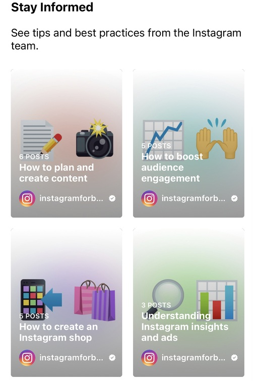 Instagram new feature - tips and best practices in professional dashboard
