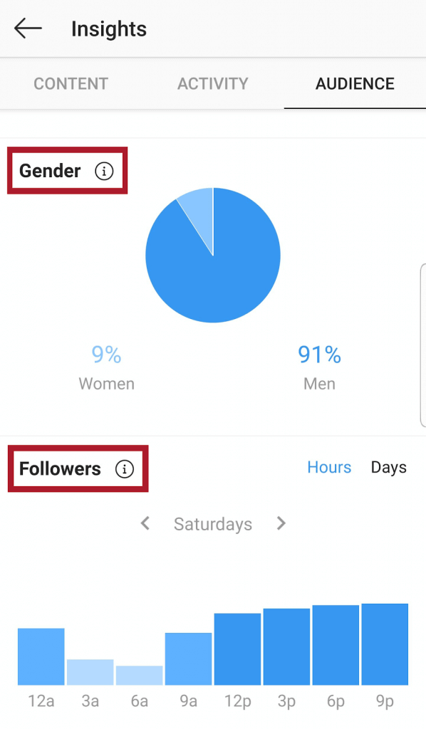 Track Instagram Follower Growth - audience demographics