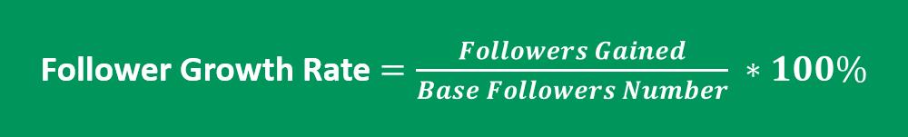Instagram follower growth rate formula