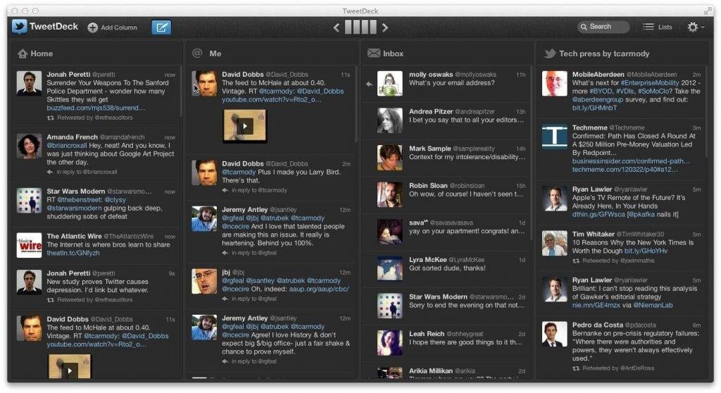TweetDeck monitor tweets