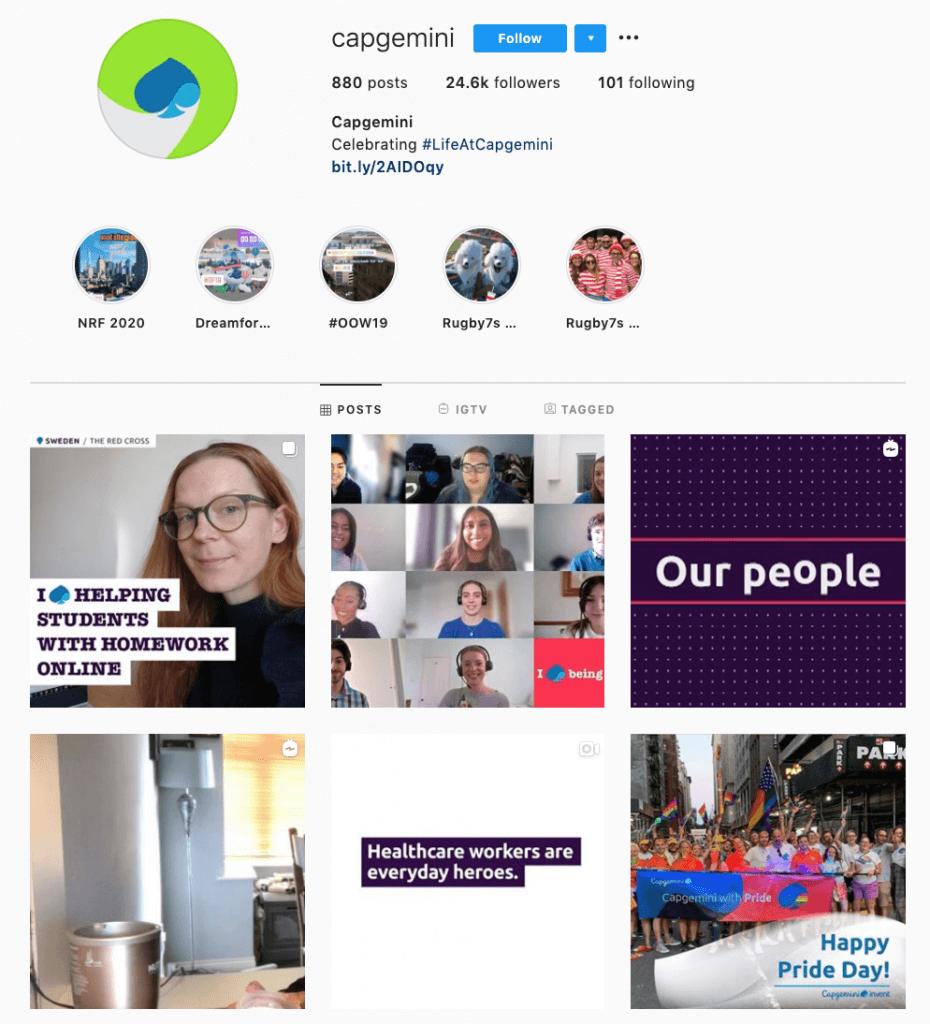 B2B Instagram communictions