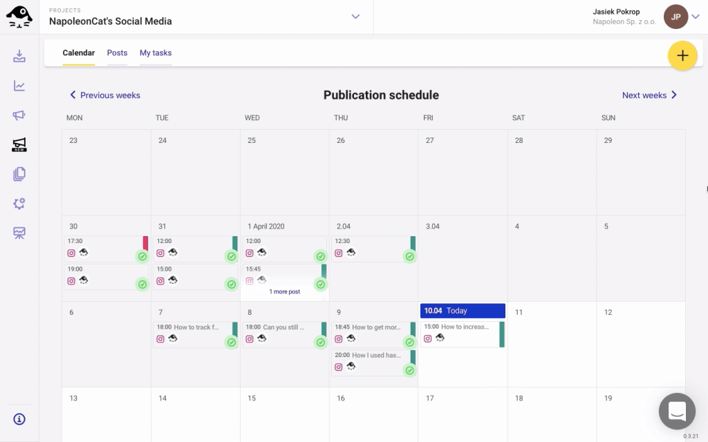 social media publishing schedule