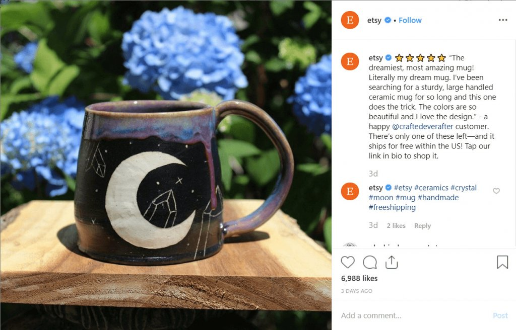 Free shipping Instagram Etsy