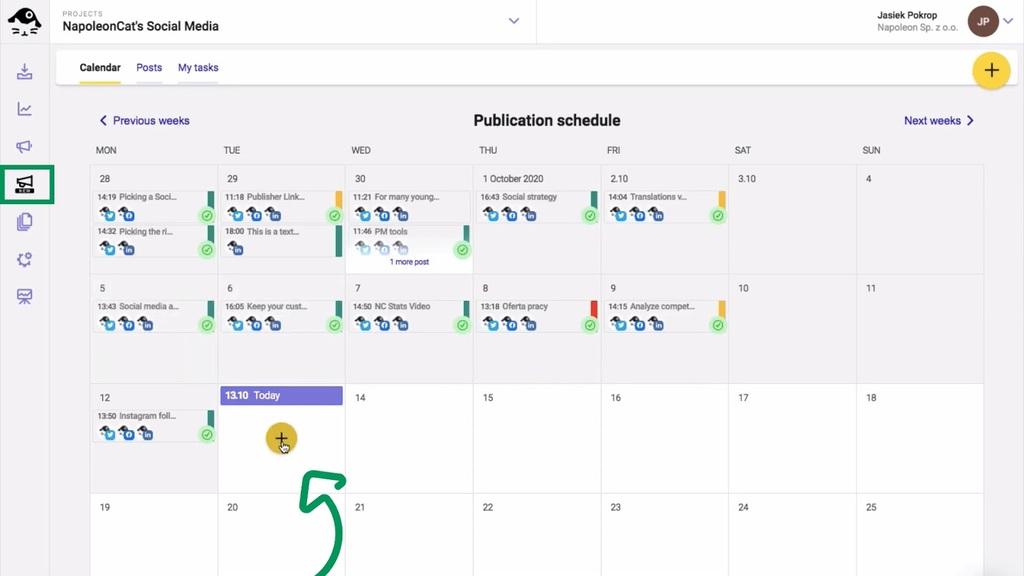 Google My Business posts — Publication schedule