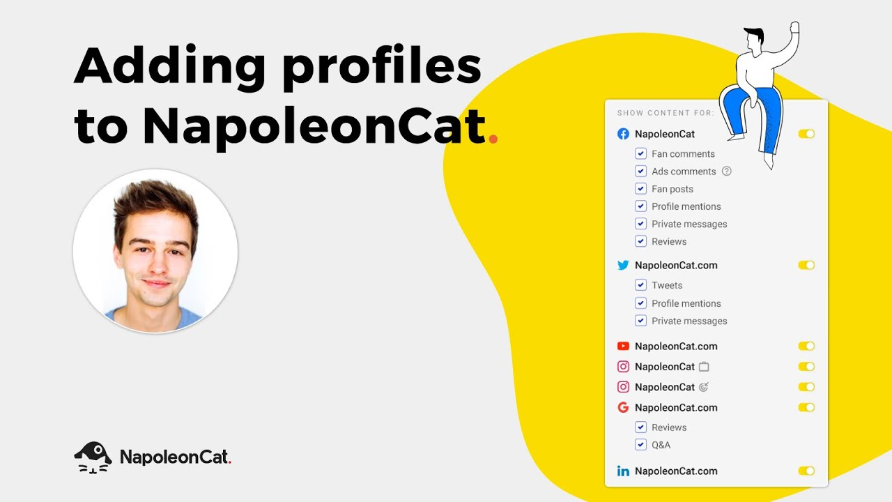 Adding social media profiles & pages in NapoleonCat