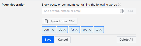 Disable comments on Facebook - facebook page moderation