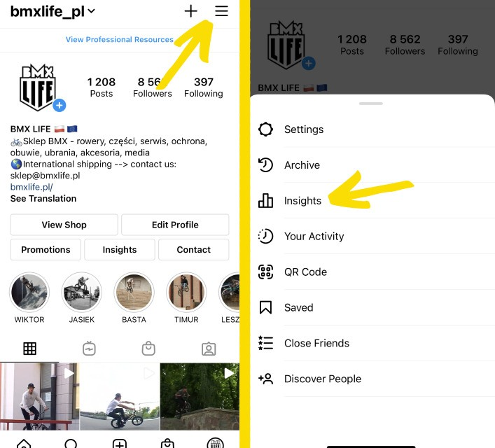 Instagram Insights - how to track Instagram follower growth