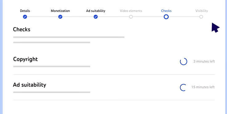 YouTube Studioチェック画面