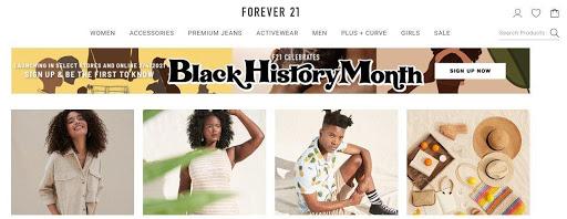 Forever 21 Black History Month