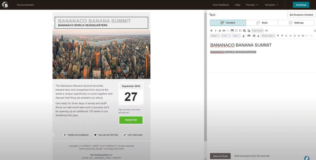 eCommerce marketing tools - mailchimp