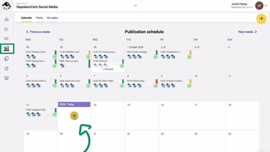 Manage multiple Facebook Pages - social media calendar
