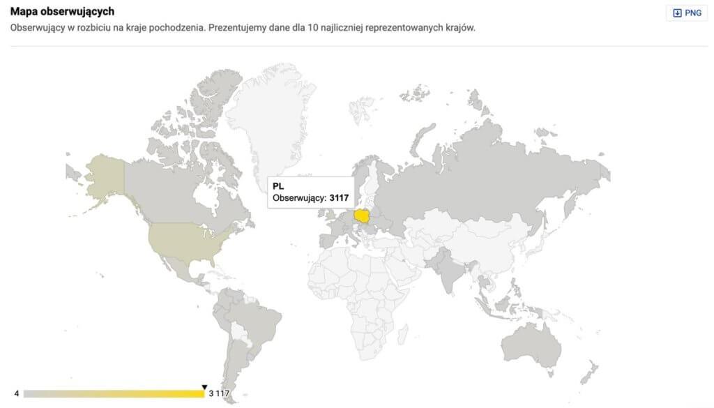 Statystyki Instagram - dane demograficzne wg kraju