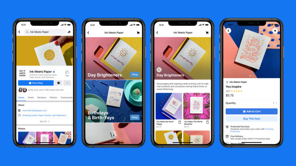 eCommerce marketing tips - ecommerce facebook and instagram stores