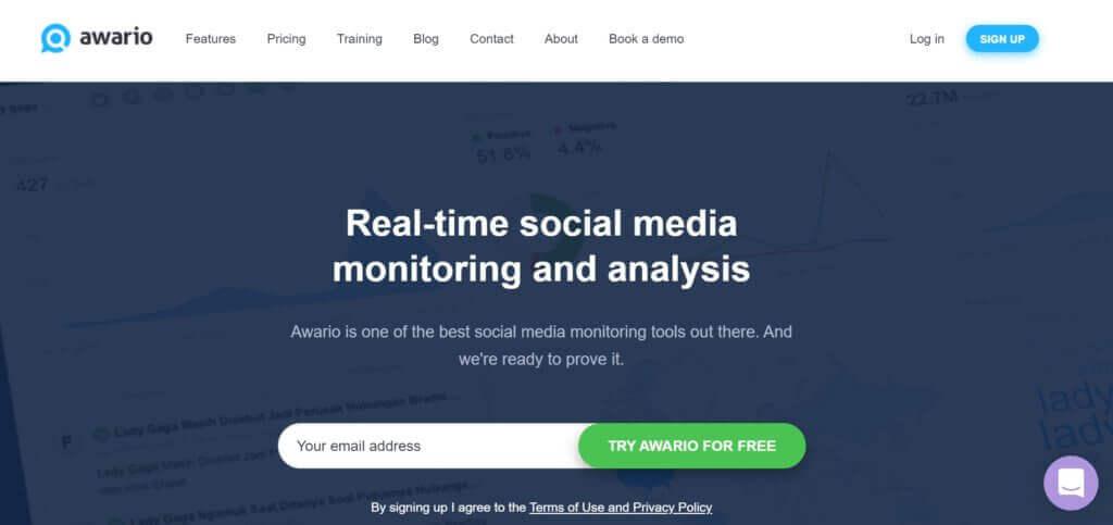 brand monitoring tool from Awario