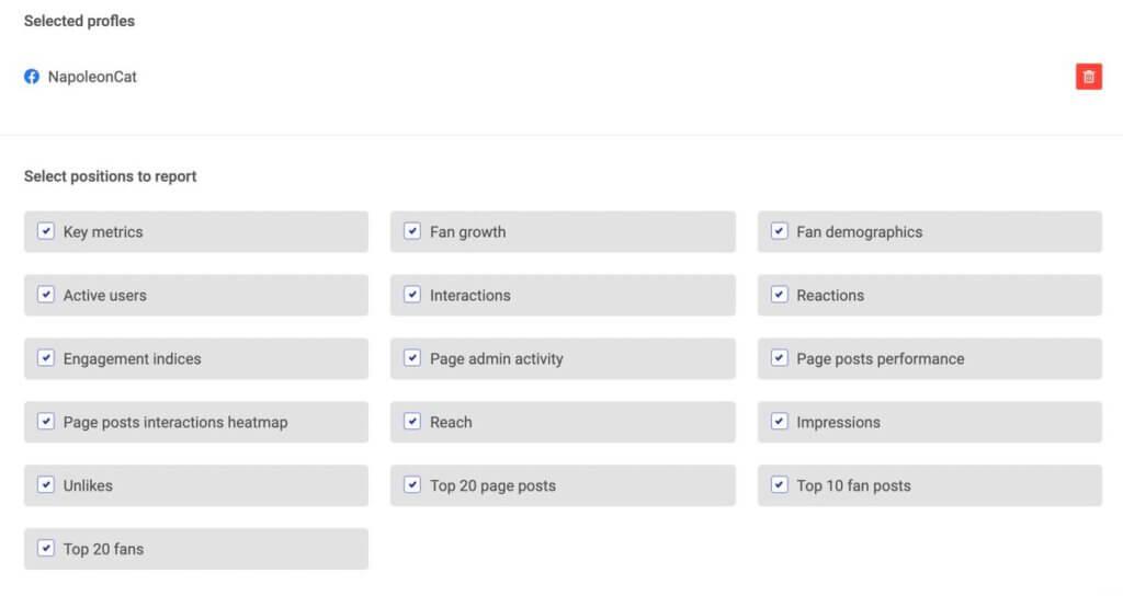 Facebook Analytics Report - key metrics