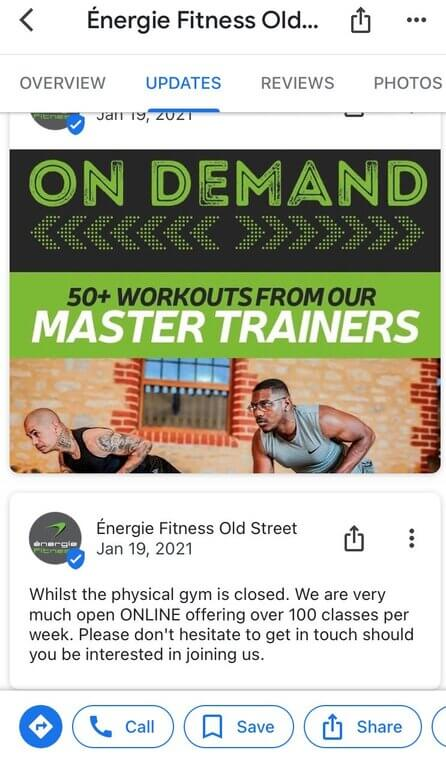 How to post on GMB - gym 2