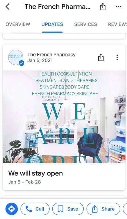 How to post on Google My Business - pharmacy