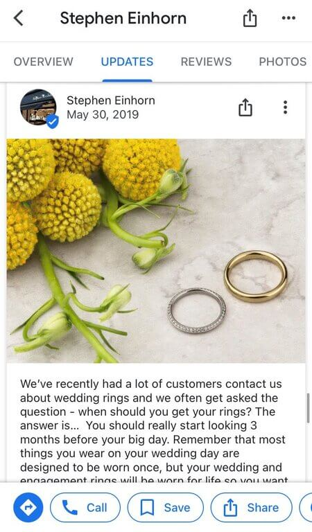 How to post on Google My Business - wedding