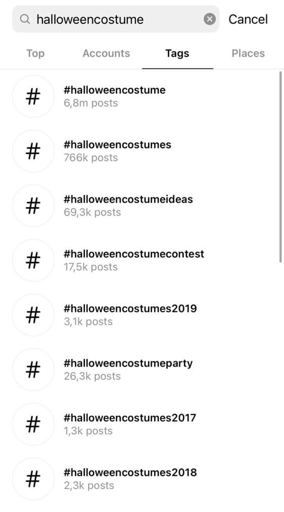 Best halloween hashtags - hashtag browser